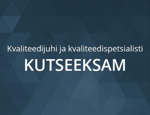 Kvaliteedijuhi ja kvaliteedispetsialisti kutseeksam 16. ja 19.06.2020