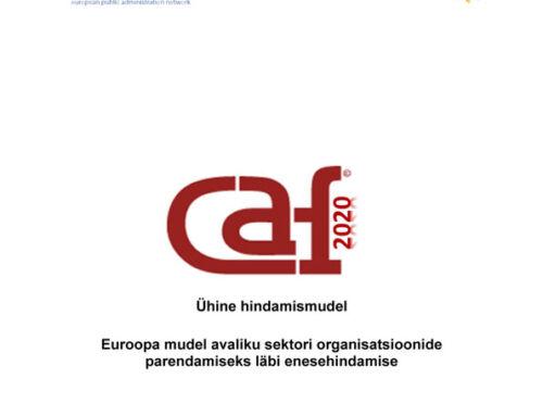 Avaliku sektori CAF 2020 ühine hindamismudel eesti keeles